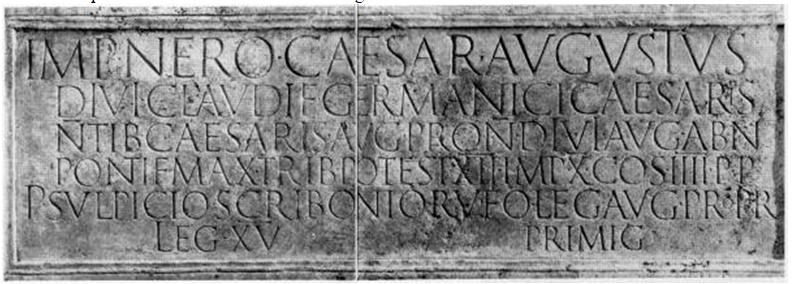 Inscription Cologne Néron Médaillon 2