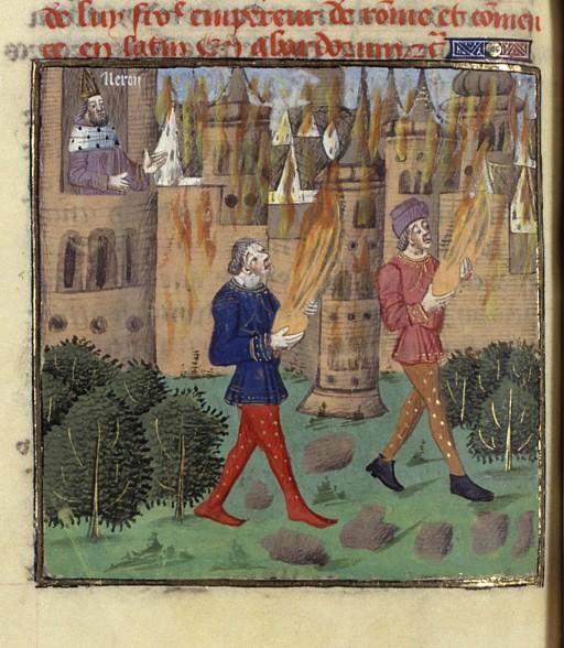 Néron incendie manuscrit