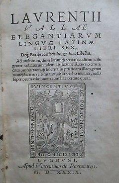 Lorenzo Valla 1539